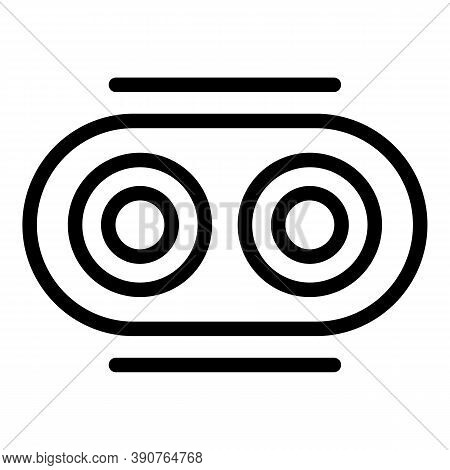 Optometrist Icon. Outline Optometrist Vector Icon For Web Design Isolated On White Background