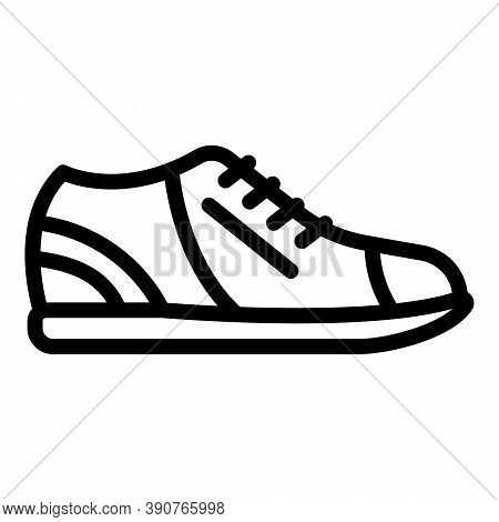 Casual Sneakers Icon. Outline Casual Sneakers Vector Icon For Web Design Isolated On White Backgroun