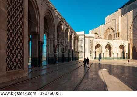 Casablanca, Morocco - November 02, 2018: People In Hassan Ii Mosque, A Mosque In Casablanca, Morocco