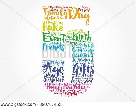 Happy 5th Birthday Word Cloud, Holiday Concept Background