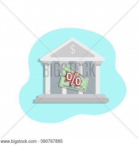Bank Vector Icon, Financial Services Vector Illustration Eps10