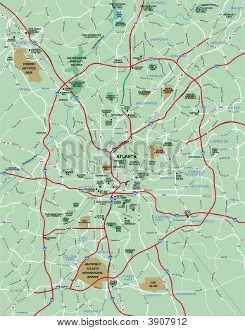 Greater Atlanta Area Map