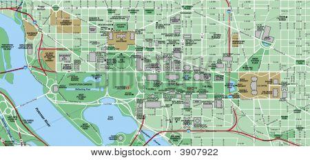 Washington Dc Local Street Map - The Mall