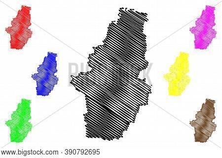 Bogota City (republic Of Colombia, Capital District Department) Map Vector Illustration, Scribble Sk