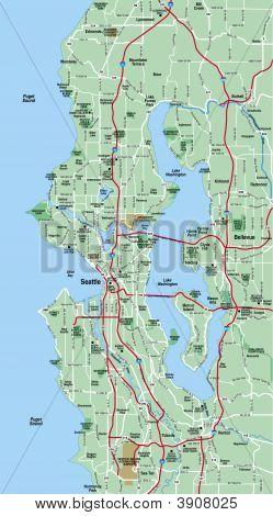 Seattle, Washington Area Map