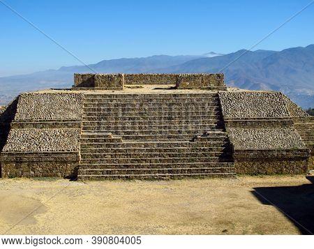 Monte Alban, Mexico - 03 Mar 2011: Ancient Ruins Of Zapotec, Monte Alban, Mexico