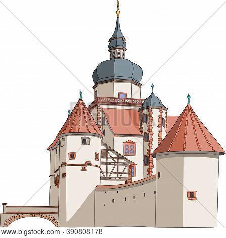 Old Fort Fortress Marienburg. Wurzburg. Bavaria Germany.