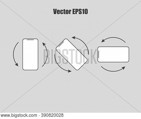 Rotate Smartphone Isolated Icon. Device Rotation Symphol. Vector Eps10