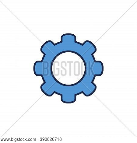 Cog Wheel Vector Concept Blue Icon Or Design Element