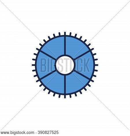 Blue Gear Or Cog Vector Concept Icon Or Logo Element On White Background