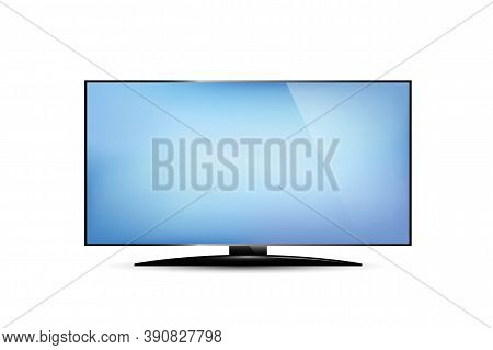 Tv With Blank Screen Isolated On White Vector Illustration Eps10