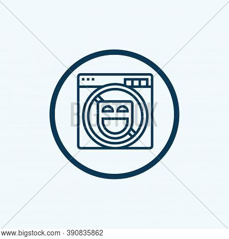 Block Icon Isolated On White Background From Basic Ui Collection. Block Icon Trendy And Modern Block