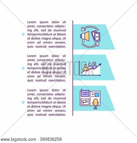 Paid Amplification Concept Icon With Text. Promotion Campaign. Internet Advertisement. Ppt Page Vect