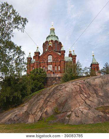 Uspensky cathedral in Helsinki Finland.