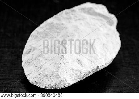 Kaolin On Isolated Black Background, Is An Inorganic Mineral, Chemically Inert