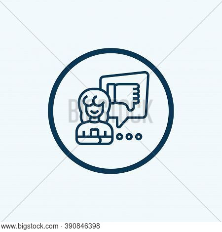 Dislike Icon Isolated On White Background From Survey Collection. Dislike Icon Trendy And Modern Dis