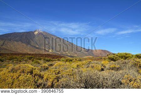 View Of El Teide Volcano In The National Park Of Las Canadas Del Teide,tenerife,canary Islands, Spai