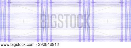 Purple Flannel Checks. Watercolor Stripe Textile. Vintage Checkered Ornament. Seamless Flannel Check