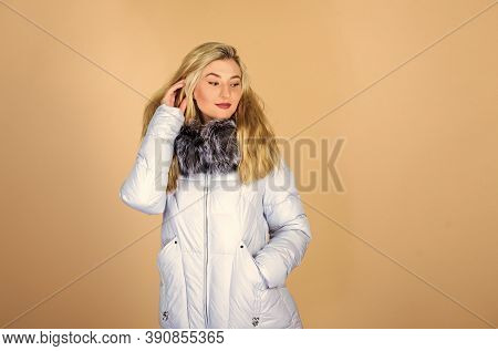 Fashion Girl Winter Clothes. Fashion Trend. Fashion Coat. Warming Up. Casual Winter Jacket More Styl