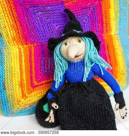Handmade Knitted Children's Toys. Knitted Hand Made Souvenir.