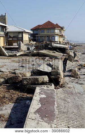 Hurricane Sandy destruction