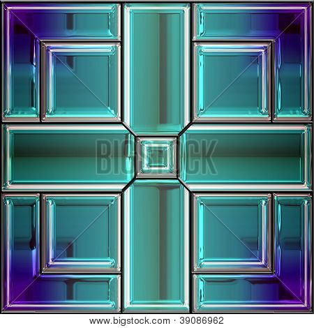 Seamless Stained Glass Window