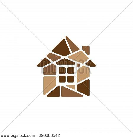 Stone House Real Home Estate Realty Residential Logo