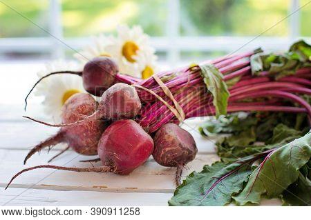 Fresh Beetroots.organic Vegetables.beetroot Plant.raw Beetroot.radish Plant.vitamin Foods