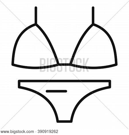 Beach Swimwear Icon. Outline Beach Swimwear Vector Icon For Web Design Isolated On White Background