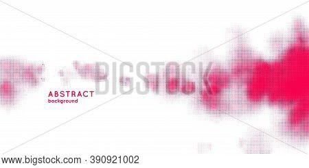 Monochrome Printing Raster, Abstract Vector Halftone Background. Texture Of Dots.