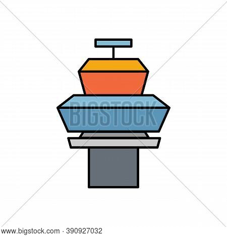 Tower Bridge, Architecture, Tower Line Colored Icon. Elements Of Airport, Travel Illustration Icons.