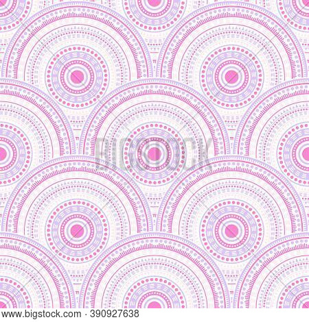 Gypsy Abstract Floral Patchwork Vector Seamless Pattern. Tribal Motifs Colorful Line Art Geometry. R