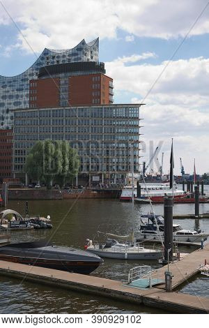 View Of Elbphilarmonie (elbe Philharmonic), A Concert Hall In The Hafen City Quarter Of Hamburg And
