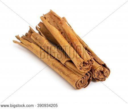 True Cinnamon Isolated On White Background. Not Cassia.