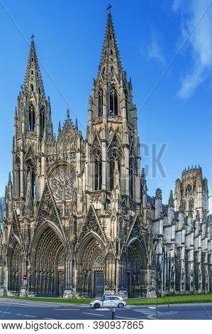 Saint-ouen Abbey Church Is A Large Gothic Roman Catholic Church In Rouen, Normandy, France