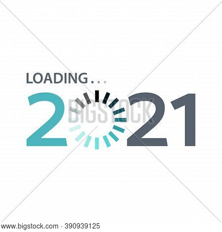 Happy New Year 2021 Loading Design Vector
