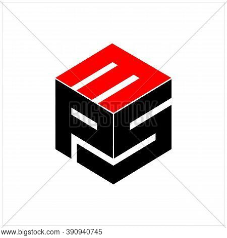 Modern Initial Letter 3 P And S With Box Vector Logo Design Inspiration