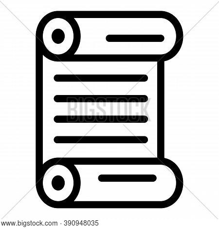 Paper Papyrus Icon. Outline Paper Papyrus Vector Icon For Web Design Isolated On White Background