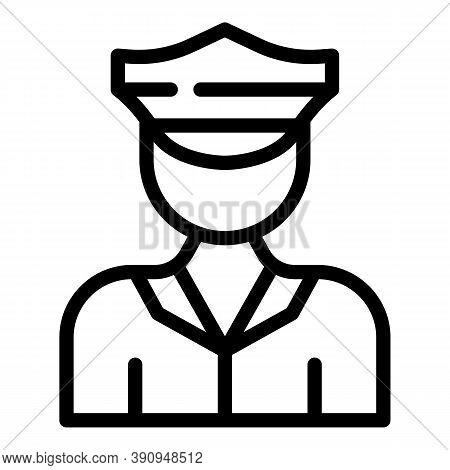 Student Job Police Officer Icon. Outline Student Job Police Officer Vector Icon For Web Design Isola