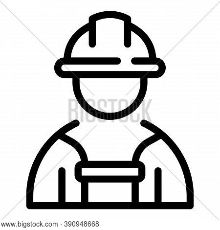 Student Job Constructor Icon. Outline Student Job Constructor Vector Icon For Web Design Isolated On