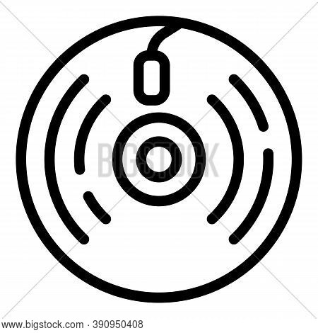 Vinyl Record Icon. Outline Vinyl Record Vector Icon For Web Design Isolated On White Background