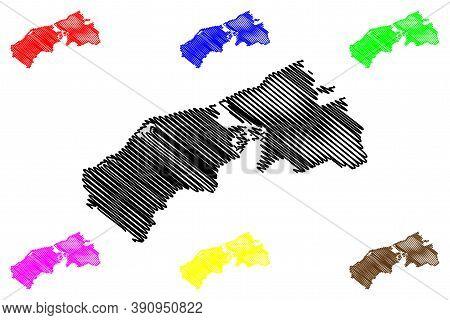 Ciudad Guayana City (bolivarian Republic Of Venezuela, Bolivar State) Map Vector Illustration, Scrib