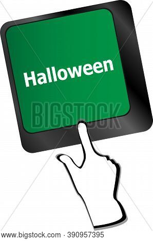 Halloween Key On Computer Keyboard Keys Isolated