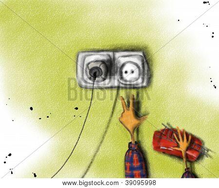 Boy and socket