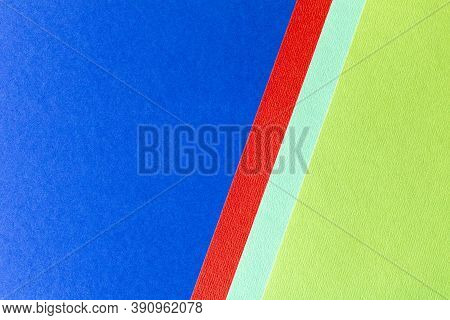 Trending Colors For 2020. Abstract Blue Red Green Background. Abstract Geometric Background For The