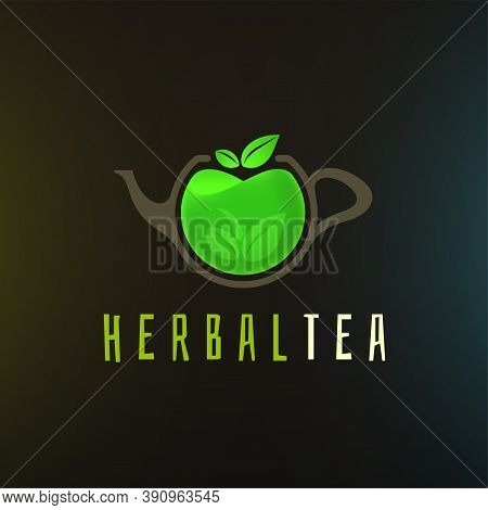 Herbal Tea Logo Template, Colorful Vector Graphic Design Element For Business, Hot Drink Company Bra
