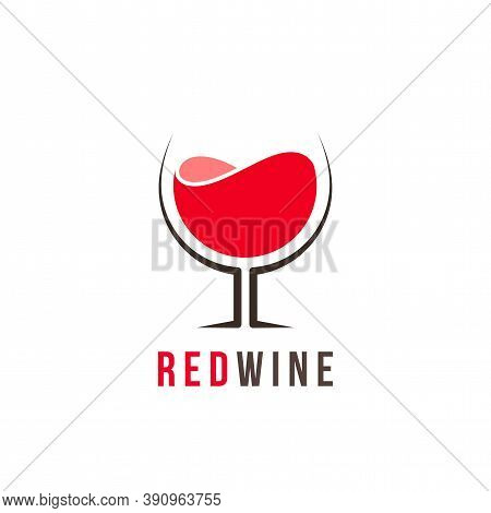 Red Wine Logo Template, Colorful Vector Graphic Design Element For Business, Distillery Company Bran