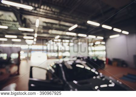 Blurred Auto Repair Auto Maintenance Services For Background.