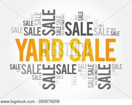 Yard Sale Words Cloud, Business Concept Background