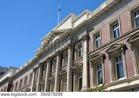 Christchurch Town, New Zealand. Old Government Building, Now Repurposed For Commercial Use.